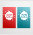 set of two vertical christmas banners holiday vector image