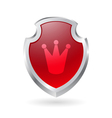 Shield with crown vector image vector image