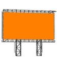 Silhouette of Steel structure billboard vector image