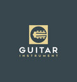 simple guitar icons logo vector image vector image