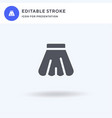 skirt icon filled flat sign solid vector image vector image