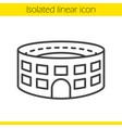 stadium building linear icon vector image