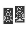 stereo system glyph icon vector image vector image