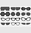sunglasses set summer eyewear sun protection vector image