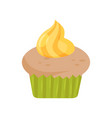 sweet delicious cupcake design element for vector image