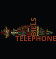 telephone bills text background word cloud concept vector image vector image