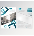 template flyer design vector image vector image