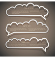 Three speech bubbles from paper vector image vector image