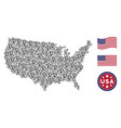 usa map stylized composition of ear vector image