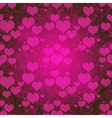 Valentine purple pattern vector image
