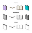various kinds of books books set collection icons vector image