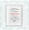 We Wish You Merry Christmas and Happy New Year vector image vector image