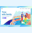 web page design template shows happy couple vector image vector image
