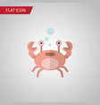 isolated crab flat icon cancer element can vector image