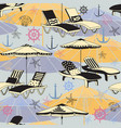 summer beach seamless pattern lounge chair vector image