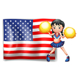 A cheerleader from the USA vector image vector image
