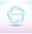 abstract blue swirl circle round frame or banner vector image vector image