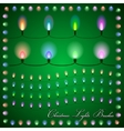 abstract of colorful lights on green background vector image