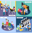 advertising agency isometric concept vector image vector image