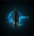 anti aging serum ads poster template vector image vector image