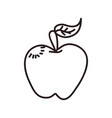 apple cartoon draw vector image
