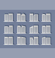architecture modern paper cut building modern vector image vector image