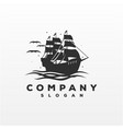 awesome ship logo design vector image