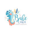 babe care logo design emblem can be used for kids vector image vector image