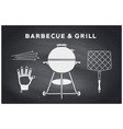 barbecue and grill tools vector image vector image