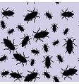 Beetle insect seamless pattern 668 vector image vector image