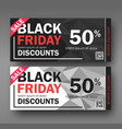 black friday sale design conceptual coupon vector image
