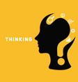 brain creative concept with question mark vector image