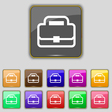 Briefcase icon sign Set with eleven colored vector image vector image