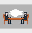 business negotiations two businessmen are sitting vector image vector image