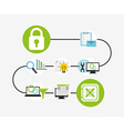business security design vector image vector image