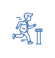 businessman running to finish line icon concept vector image