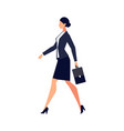 businesswoman in a flat style isolated on white vector image vector image