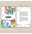 Card with Gears vector image vector image
