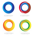 Corporate business colore logo circle icons vector image vector image