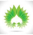 creative green leaf icon vector image vector image