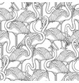 cute graphic flamingo pattern vector image vector image