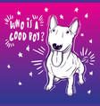 cute with bullterrier home vector image