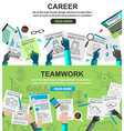 Design Concepts for team work and career vector image vector image