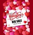design flyer happy valentine s day 50 off sale vector image vector image