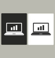 diagram screen - icon vector image