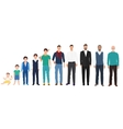 Different age generations of the men male person vector image