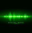 digital wave sound waves oscillating glow light vector image