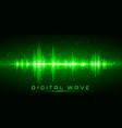 digital wave sound waves oscillating glow light vector image