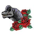 dinosaurus brachiosaurus head art vector image vector image