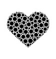 dotted heart symbol of love vector image vector image